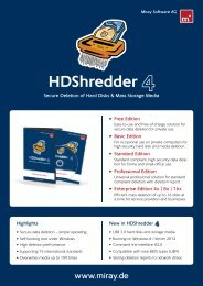 HDShredder data sheet (.pdf) - Miray Software