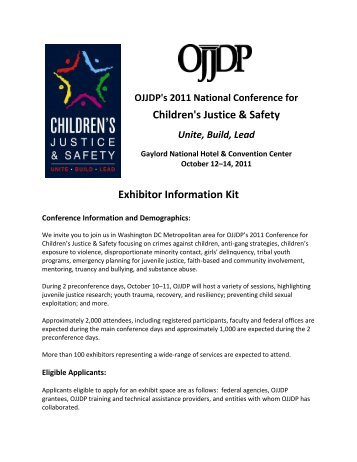 Application materials - Office of Juvenile Justice and Delinquency ...