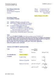 EVEREST test data scrutinized - Michael Schmiechen, Berlin ...