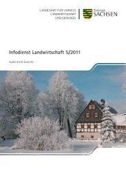 Infodienst Landwirtschaft 5/2011 - Sächsisches Staatsministerium ...