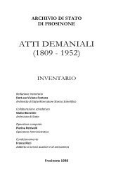 ATTI DEMANIALI (1809 - 1952)