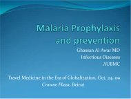 Malaria Prophylaxis and prevention