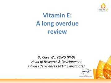 Vitamin E: A long overdue review