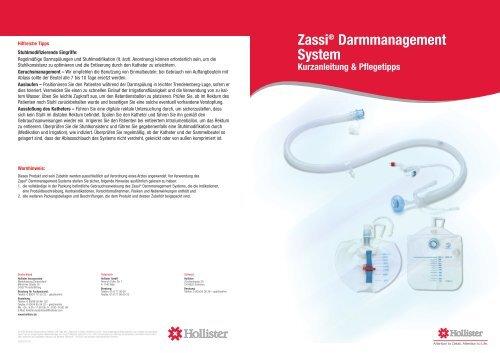 Zassi® Darmmanagement System Kurzanleitung ... - gd medical AG