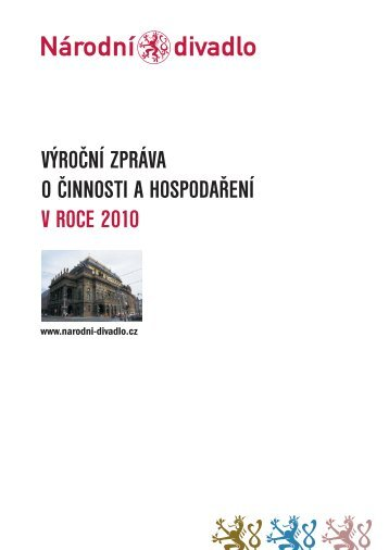Výroční zpráva o činnosti a hospodaření ... - Národní divadlo