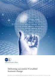 Delivering successful IT-enabled business change - National Audit ...