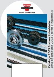 Catalogo 2003 Correas industriales Lista de produtos 2003 ...