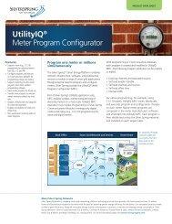 UtilityIQ® Meter Program Configurator - Silver Spring Networks