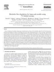 Metabolic flux elucidation for large-scale models ... - Costas Maranas