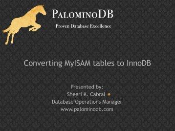 View slides - PalominoDB