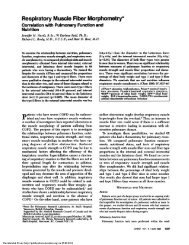 Respiratory Muscle Fiber Morphometry* - CHEST Publications
