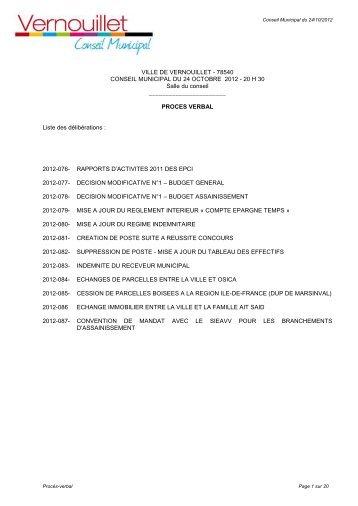 PV du conseil municipal du 24 octobre 2012 (pdf - 402 Ko)