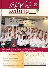 Oktober-Zeitung des Südtiroler Kochverbands