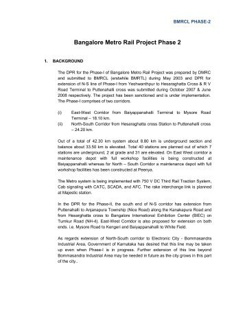 Bangalore Metro Rail Project Phase 2