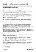 FOI Guide to information published by Perth College UHI under the ... - Page 3