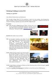 Einladung Frühlingserwachen 2011