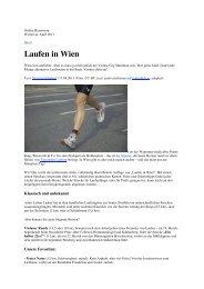Laufen in Wien - Perlen-Reihe