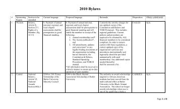 2010 Bylaws - Sigma Gamma Rho Sorority, Inc.