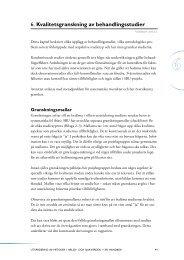 Kapitel 6. Kvalitetsgranskning av behandlingsstudier ur ... - SBU