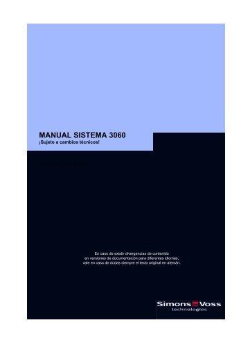 MANUAL SISTEMA 3060 - SimonsVoss technologies