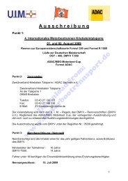 Ausschreibung (PDF, 117kB) - Motorbootrennsport