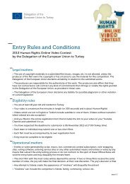 Entry Rules and Conditions - Turkey