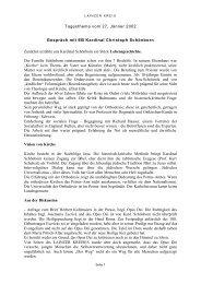 Tagesthema vom 27. Jänner 2002 Gespräch mit EB ... - Lainzer Kreis