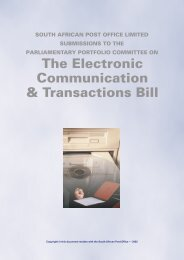 South African Post Office Submission - Parliamentary Monitoring ...