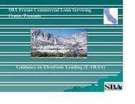 SBA Fresno Commercial Loan Servicing Center Presents - Coleman ...