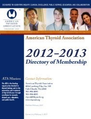 2012-2013 - American Thyroid Association