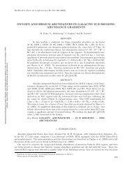 oxygen and helium abundances in galactic h ii regions