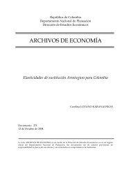 Elasticidades de sustitución Armington para Colombia