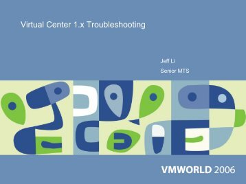 Virtual Center 1.x Troubleshooting - VMware