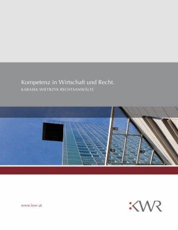 Kompetenz in Wirtschaft und Recht. - KWR
