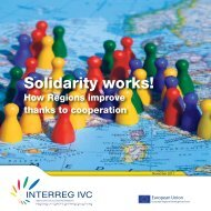 Solidarity works! How Regions improve thanks to - Interreg IVC