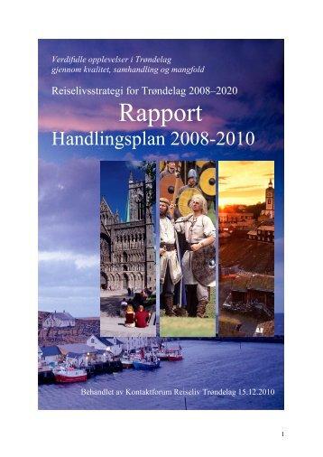 Rapport – handlingsplan for reiselivet i Trøndelag 2008 - Bransjenett