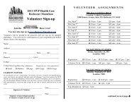 Volunteer Sign-Up Sheet – 2011 - Rochester Marathon