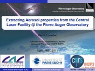 Extracting Aerosol properties from the Central Laser Facility @ the ...