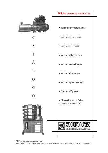 Valvulas e Reguladores Rudick - Raoli