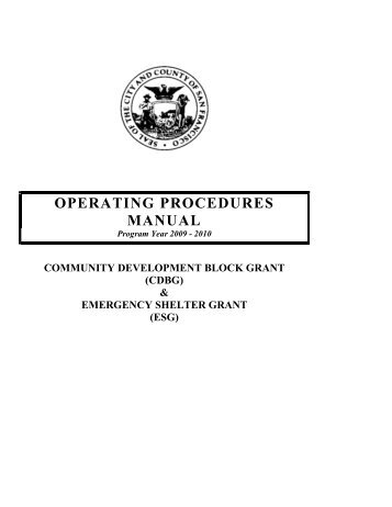 2009-10 Operating Manual - Office of Economic and Workforce ...