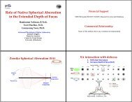Role of Native Spherical Aberration in the Extended Depth of Focus