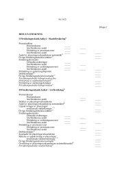 Bilagor 1 och 2 - Finlex