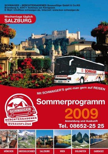 2009 Sommerprogramm - Bus-schwaiger.de