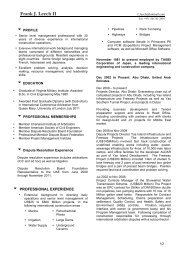 Frank J. Leech II - The Dispute Board Federation