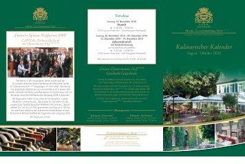Kulinarischer Kalender August - Hotel Clostermanns Hof