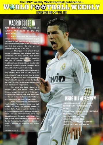 24th april 2012 madrid close in - WORLD FOOTBALL WEEKLY