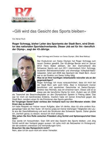 «Gilli wird das Gesicht des Sports bleiben»