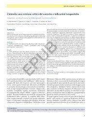 Catatonia: una revisione critica del concetto e indicazioni terapeutiche