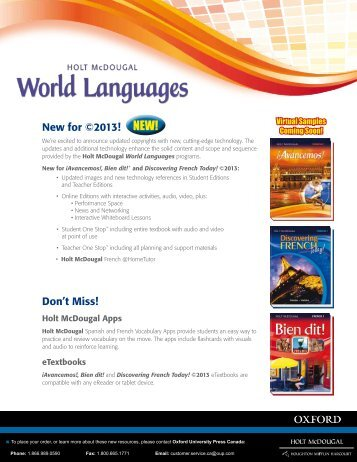 HM.World.Languages.Flyer - Oxford University Press