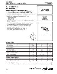 MRF166C Data Sheet - CB Tricks
